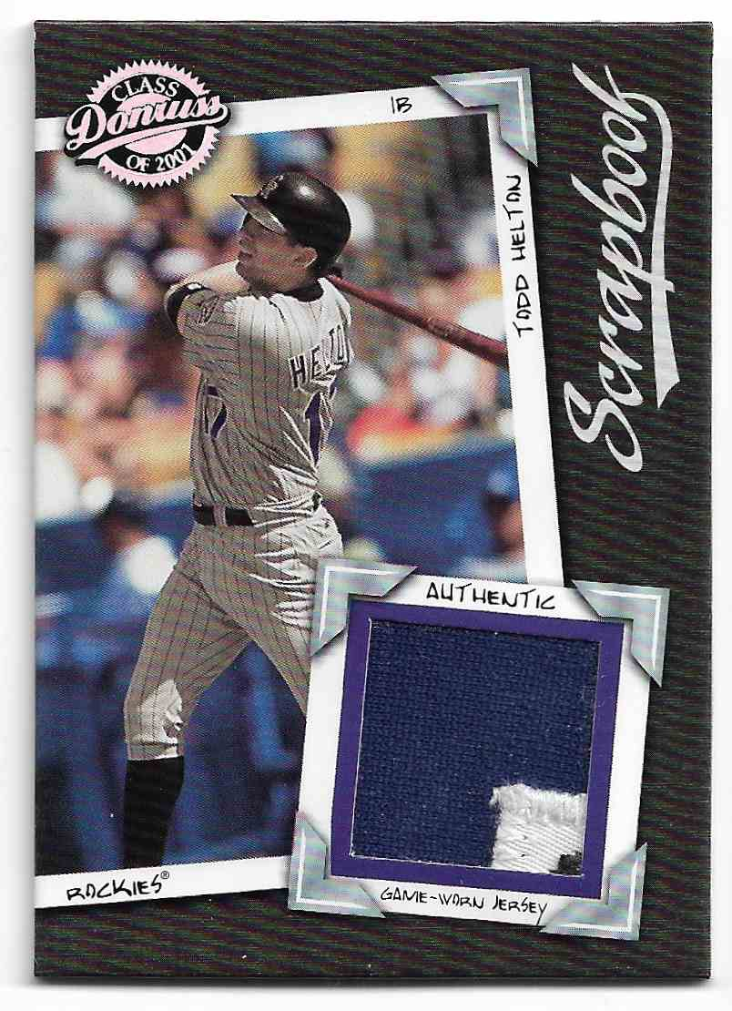 2001 Donruss Class Of 2001 Todd Helton #SB-7 card front image