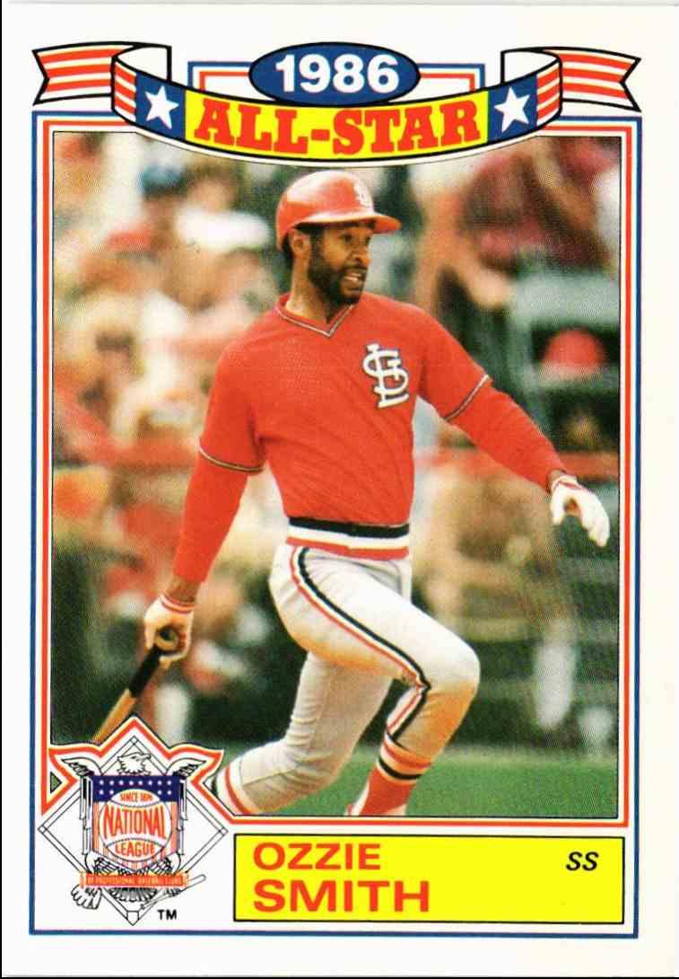 1987 Topps 1986 All Star Game Ozzie Smith 5 On Kronozio