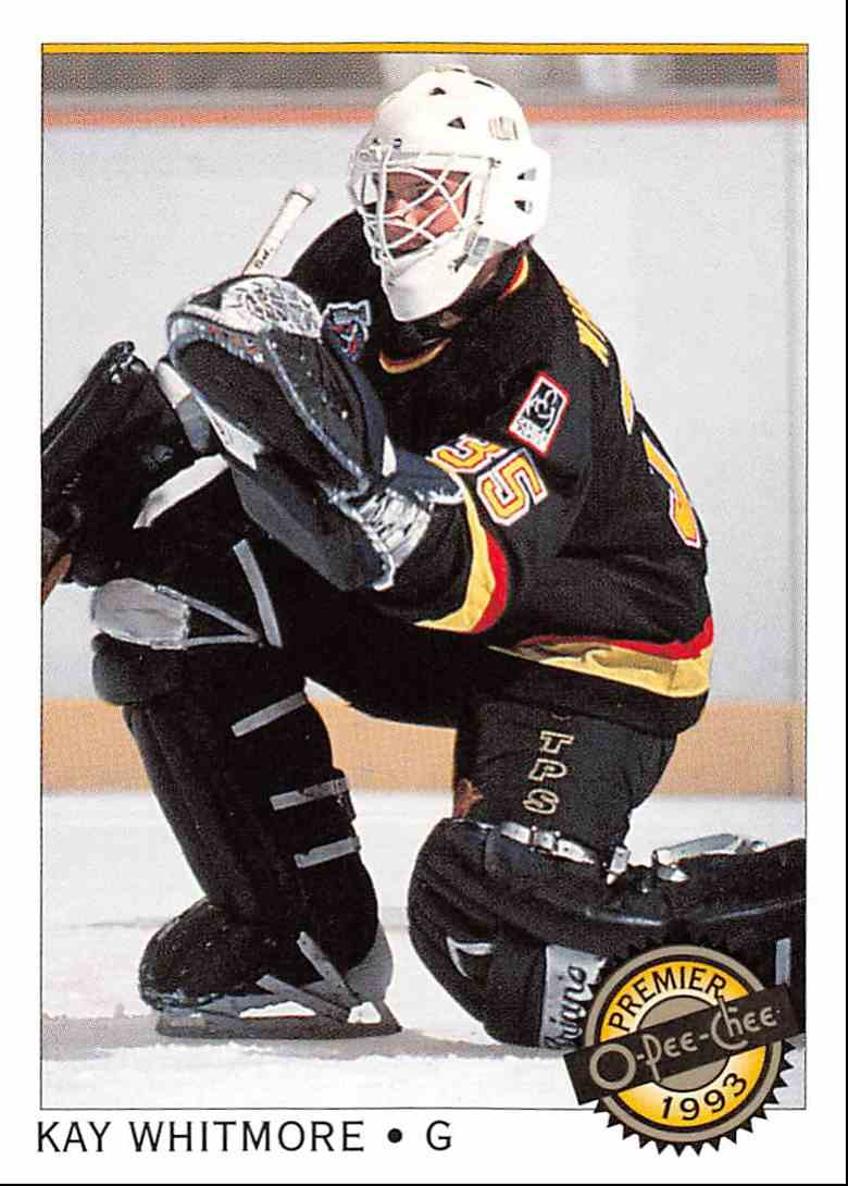 1992-93 O-Pee-Chee Premier Kay Whitmore #87 card front image