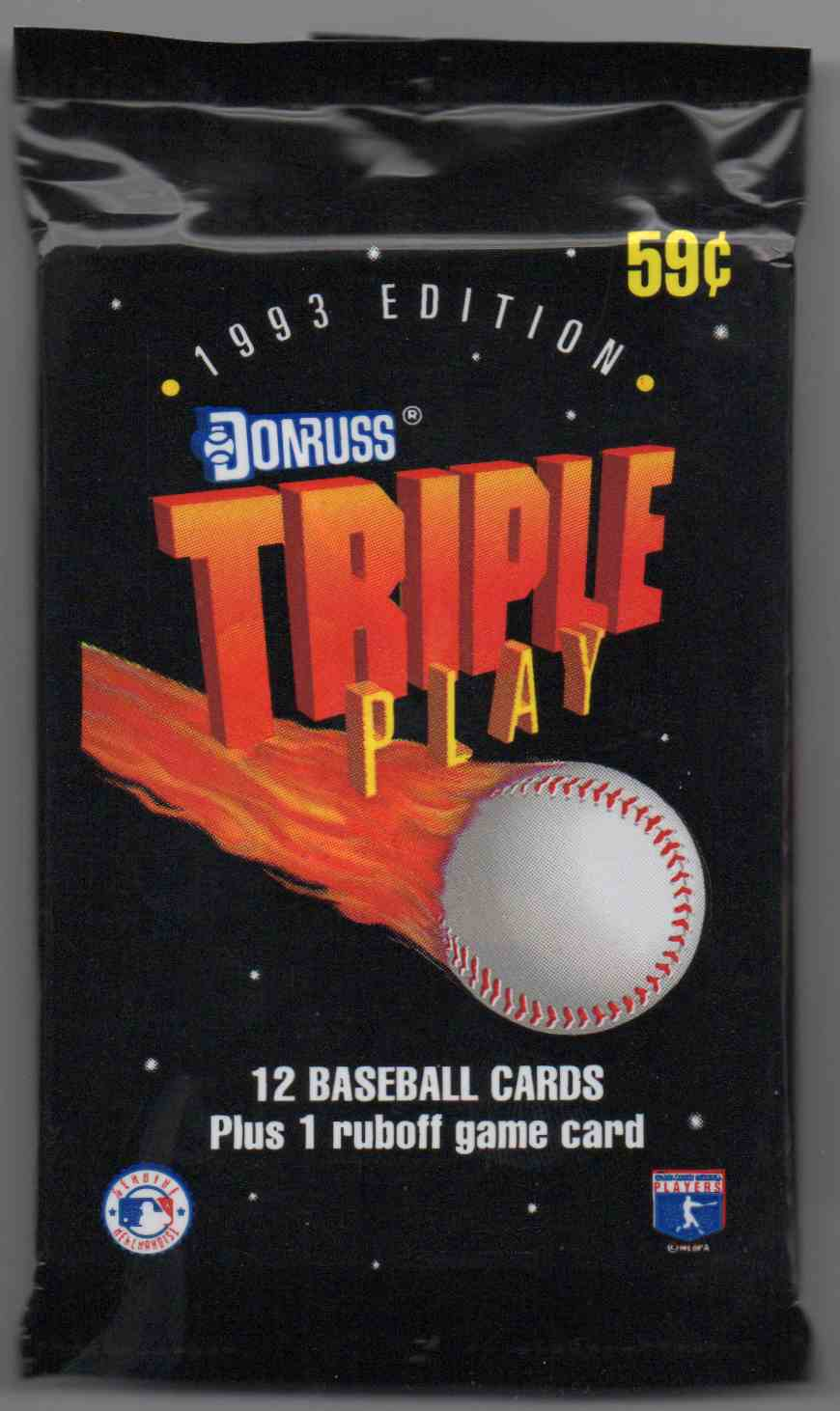 1993 Triple Play Unopened Pack #12 card front image