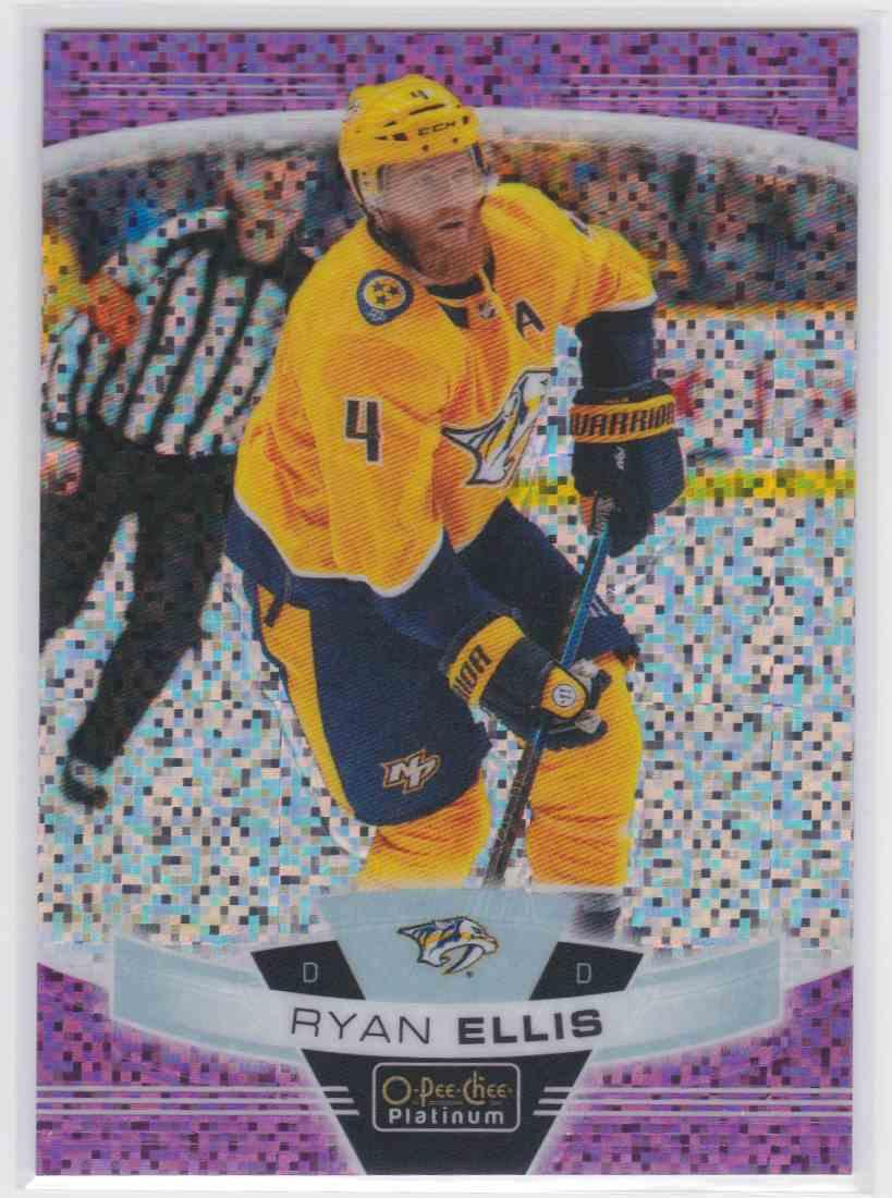 2019-20 Upper Deck Hockey O-Pee-Chee Platinum Ryan Ellis - Violet Pixels #84 card front image