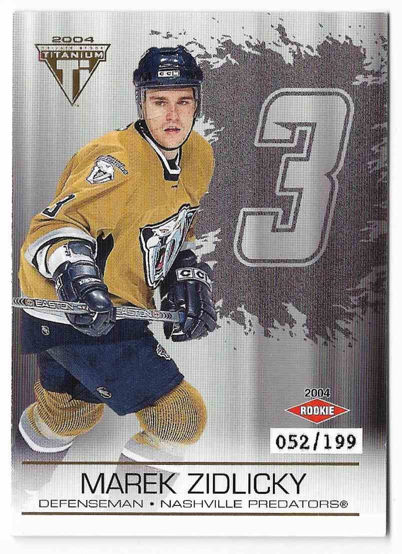 2003-04 Pacific Private Stock Titanium Marek Zidlicky #125 card front image