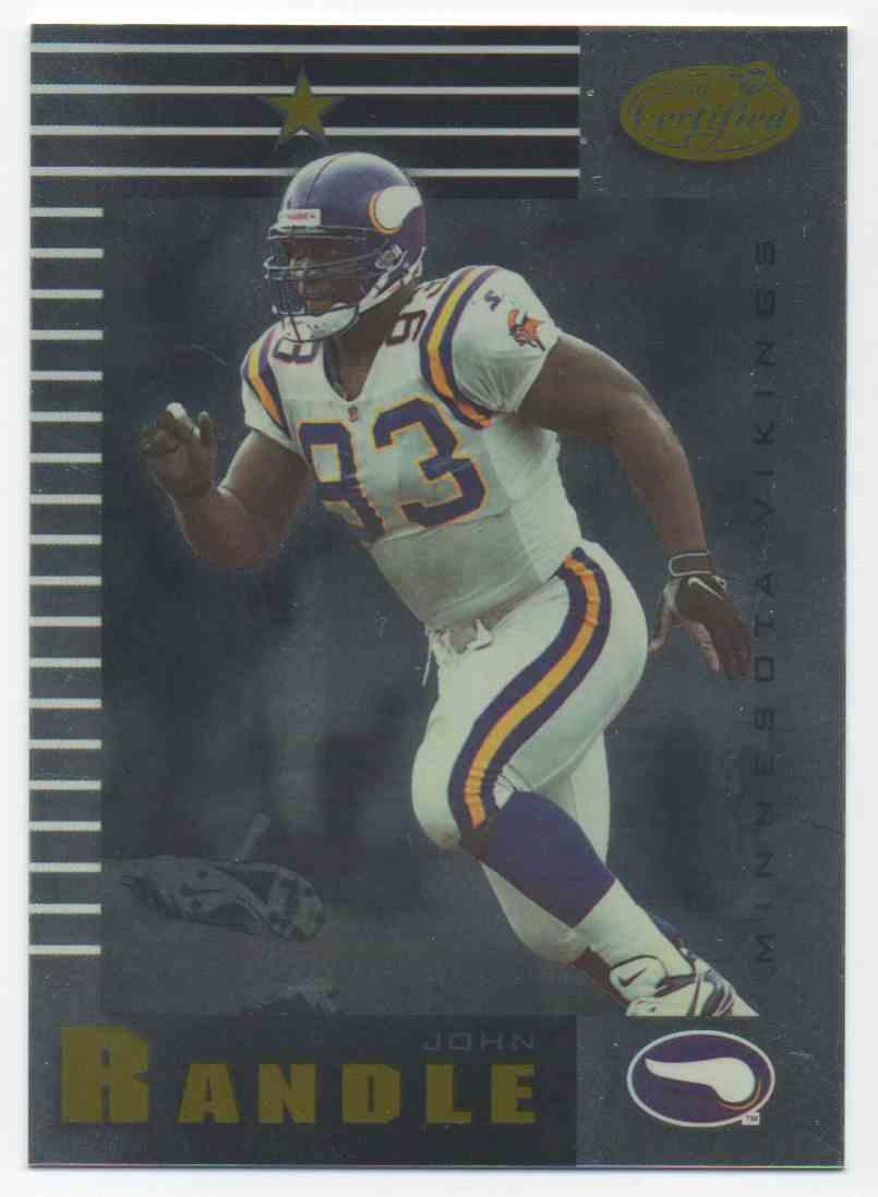 1999 Leaf Certified John Randle #55 card front image