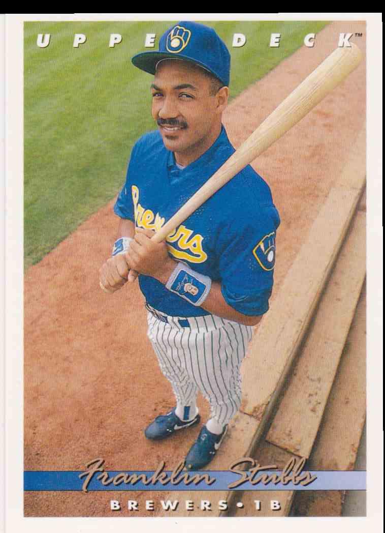1993 Upper Deck Franklin Stubbs 269 On Kronozio