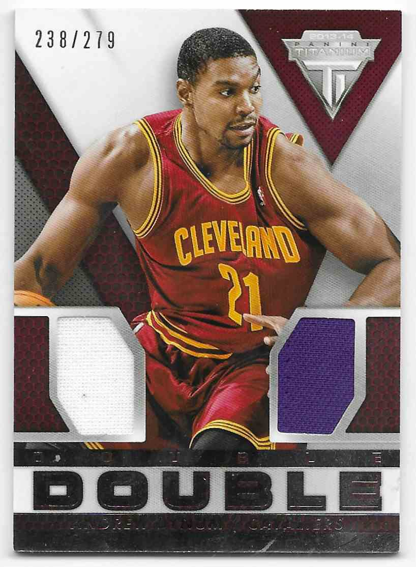 2013-14 Panini Titanium Double Double Jerseys Andrew Bynum #14 card front image