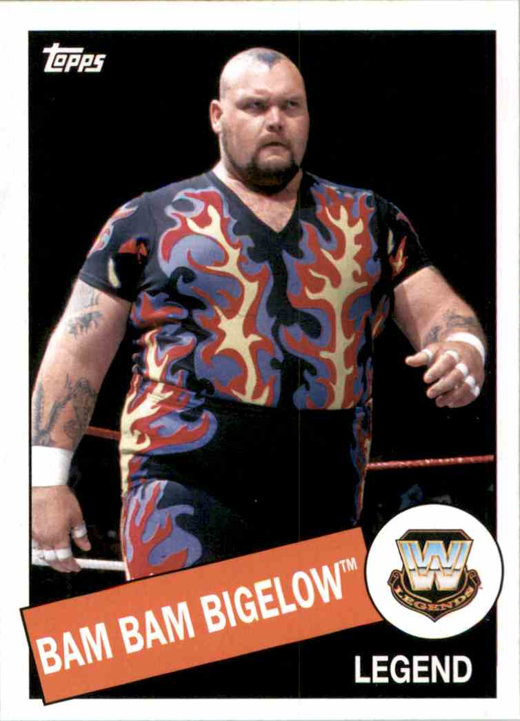 2015 Topps Heritage Wwe Bam Bam Bigelow #4 card front image