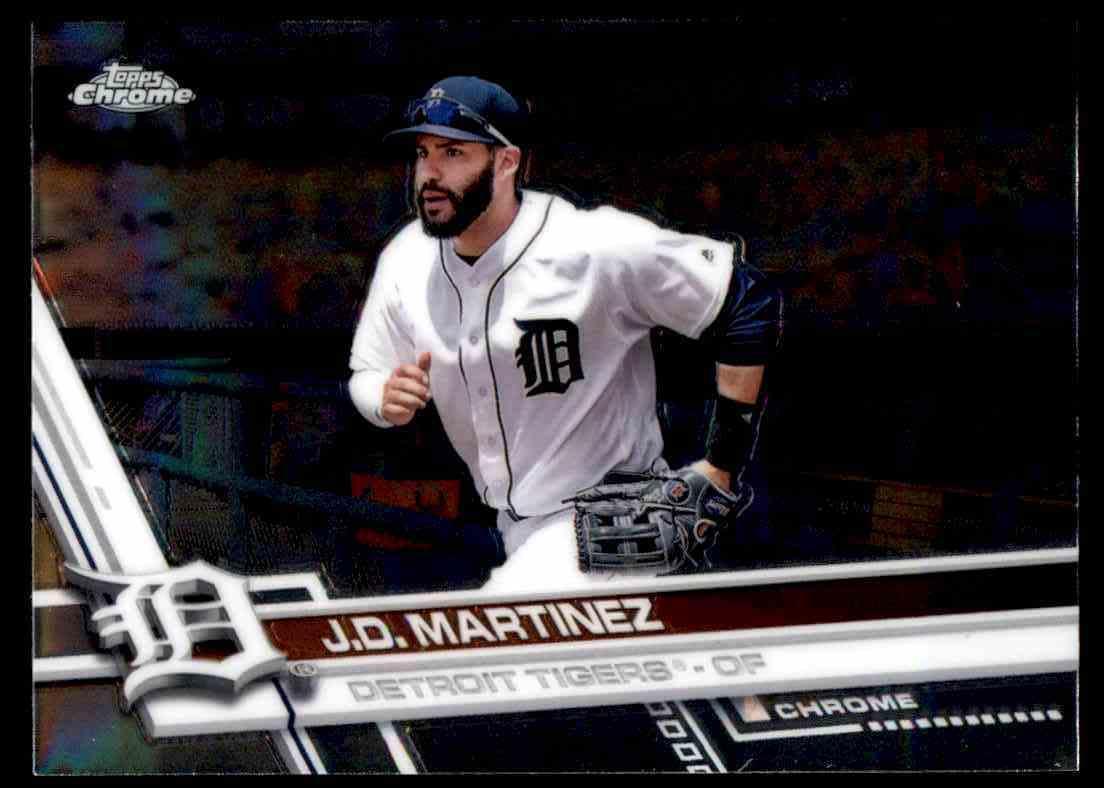 2017 Topps Chrome Jd Martinez Detroit Tigers 63 On