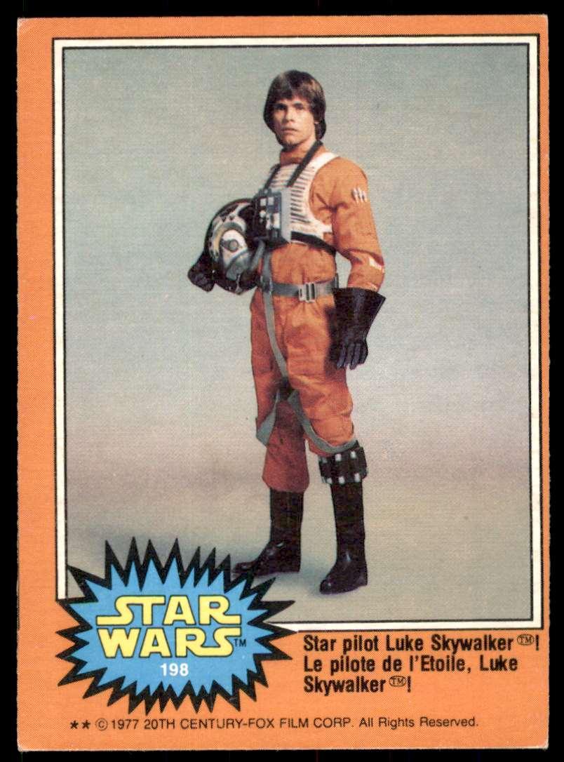 1977 Topps Star Wars Star Pilot Luke SkywaLker #198 card front image