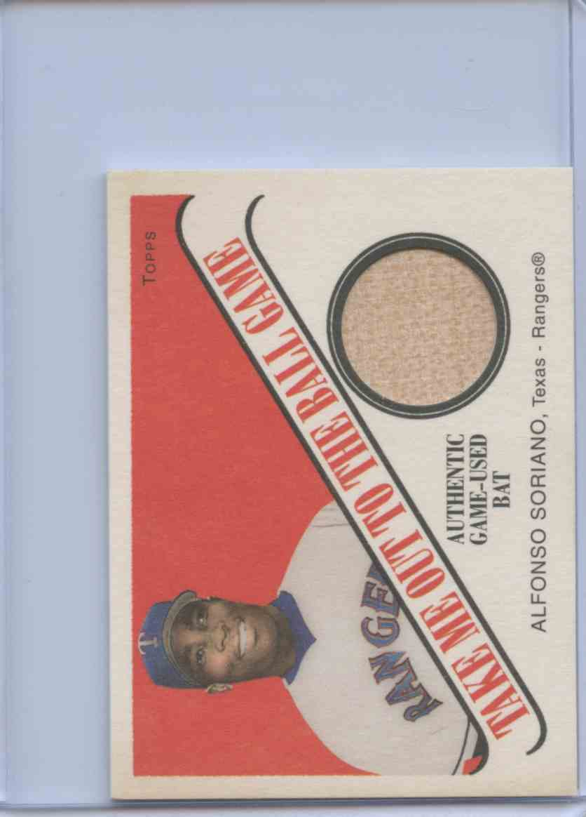 2004 Topps Cracker Jacks Ball Players Alfonso Soriano #TB-AS2 card front image