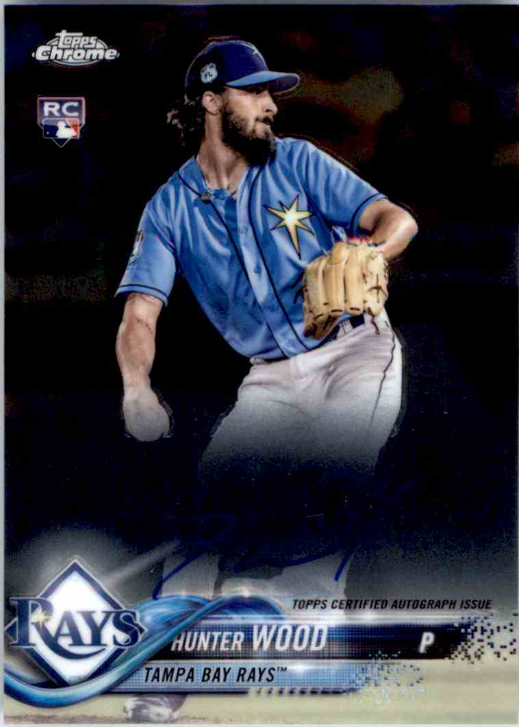 2018 Topps Chrome Base Autograph Hunter Wood #RA-HW card front image