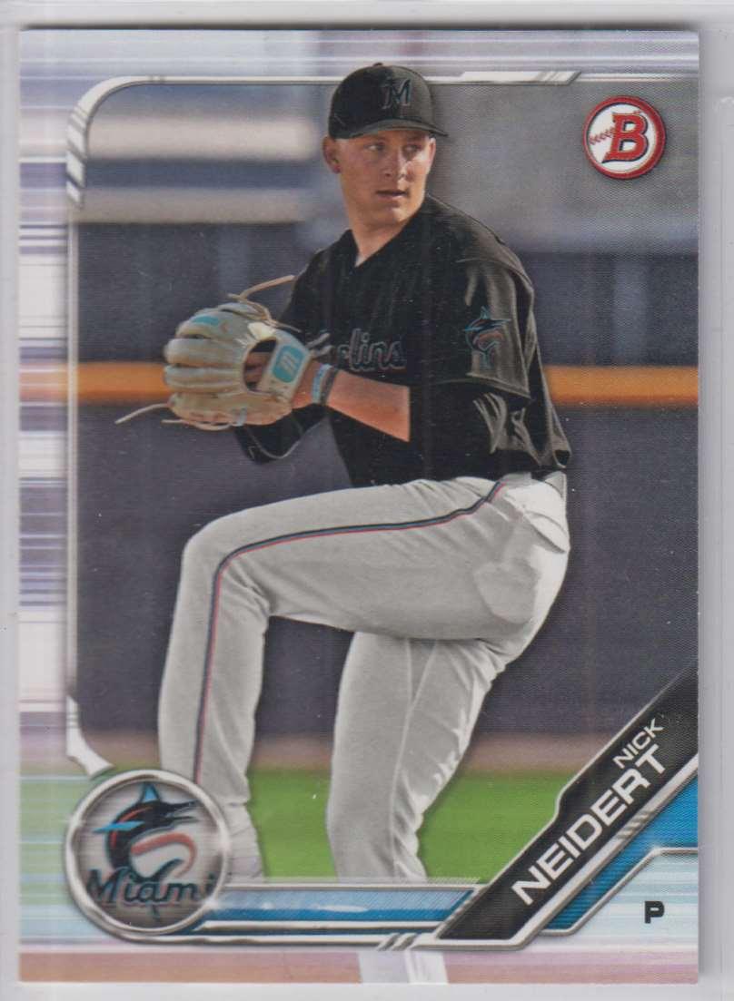 2019 Bowman Prospects Nick Neidert #BP-8 card front image