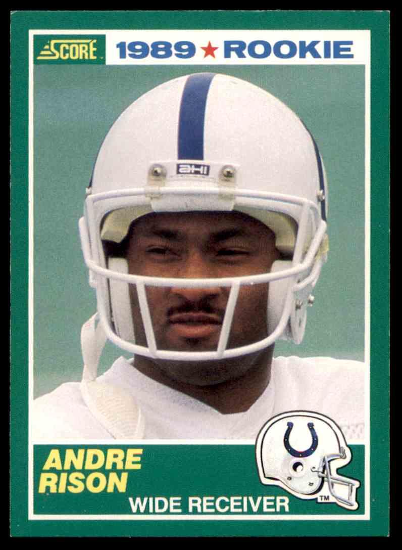 1989 Score Football Andre Rison Rookie 272 On Kronozio