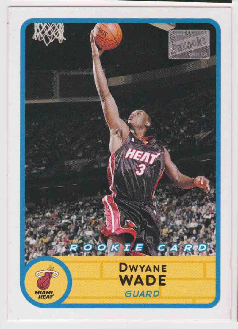 2003 04 Topps Bazooka Rookie Dwayne Wade 252 On