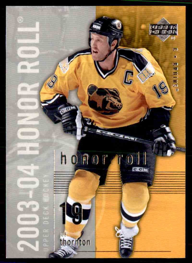 2003 04 Upper Deck Honor Roll Joe Thornton 6 On Kronozio