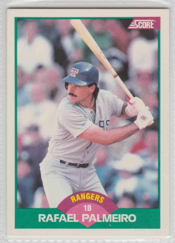 1989 Score Base Rafael Palmeiro #1T card front image