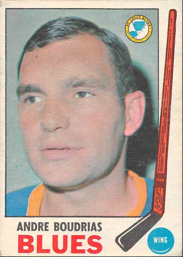 1969-70 O-Pee-Chee Andre Boudrias #16 card front image