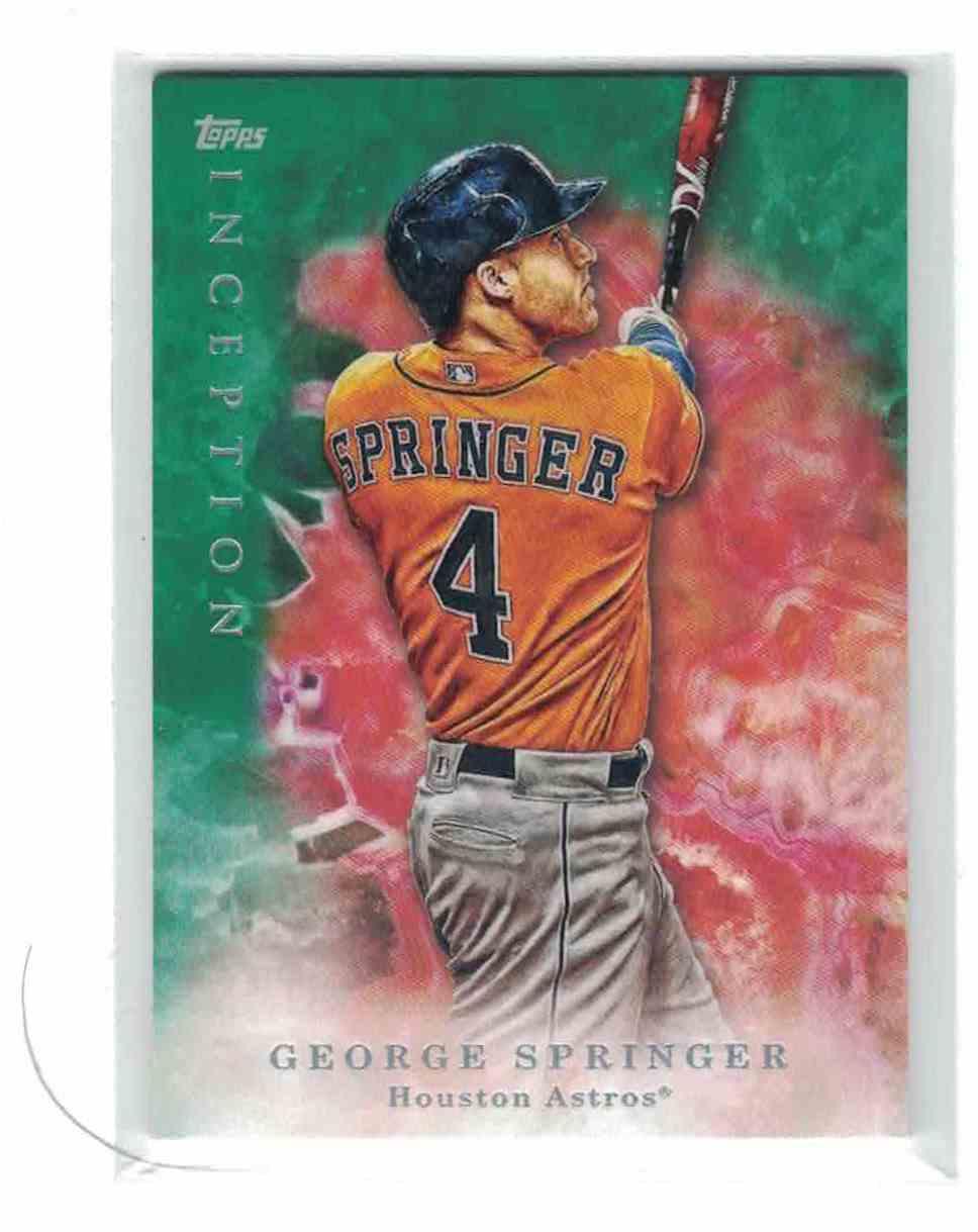 2017 Topps Inception Green #26 George Springer Houston Astros Baseball Card