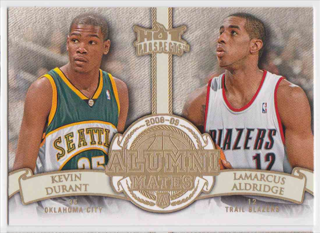 2008-09 Fleer Hot Prospects Alumni Mates Kevin Durant Lamarcus Aldridge #AM-15 card front image