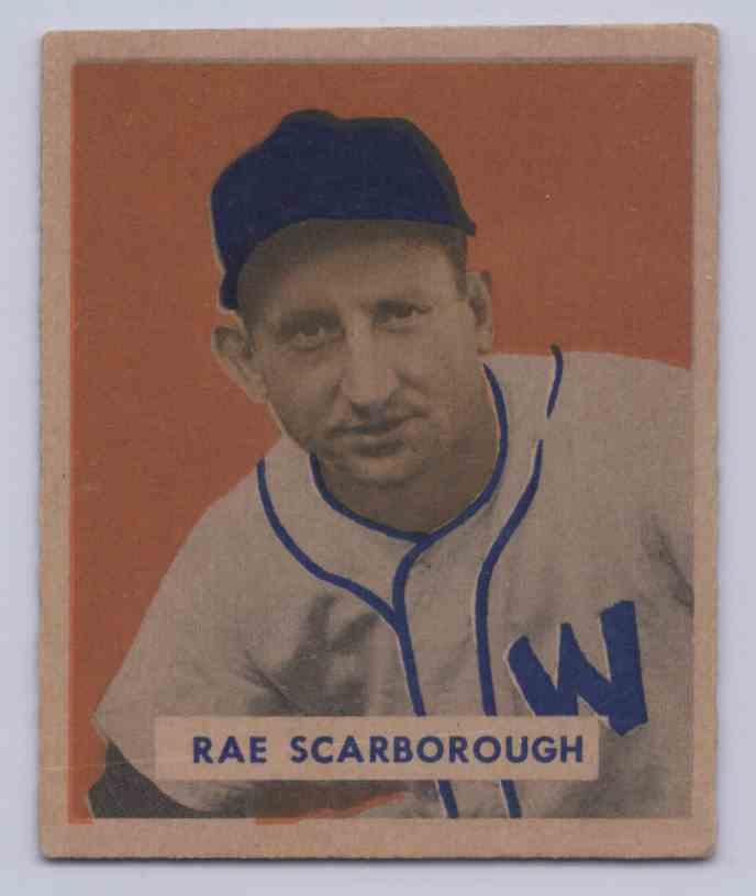 1949 Bowman Rae Scarborough #140 card front image