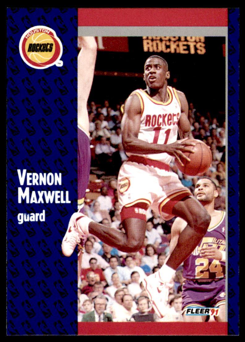 1991 92 Fleer Vernon Maxwell 76 on Kronozio