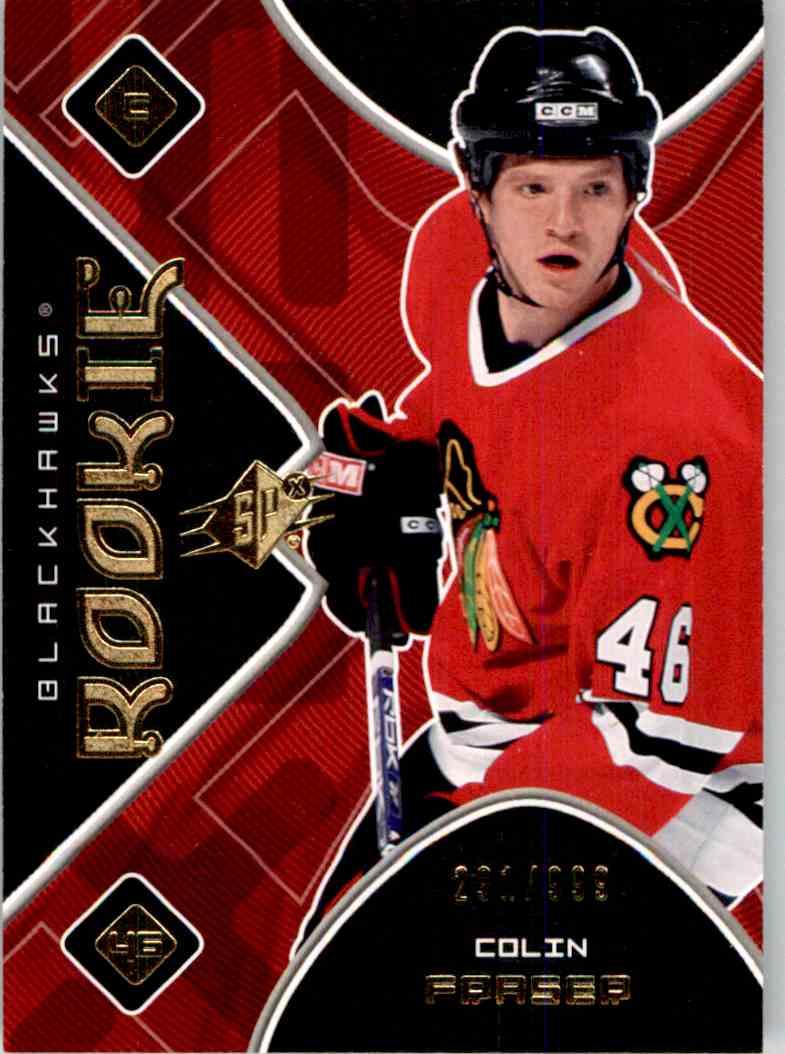 2007-08 Upper Deck SPx Colin Fraser #155 card front image
