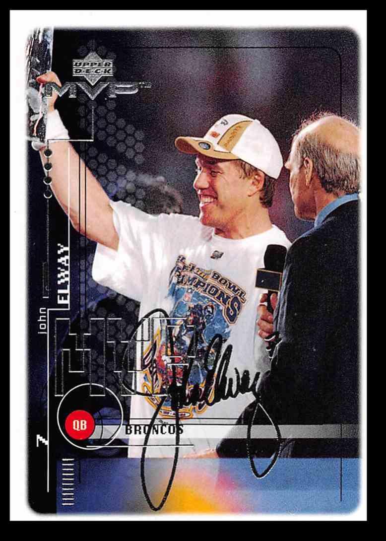 1999 Upper Deck Mvp Silver Script John Elway Football Card 58 On