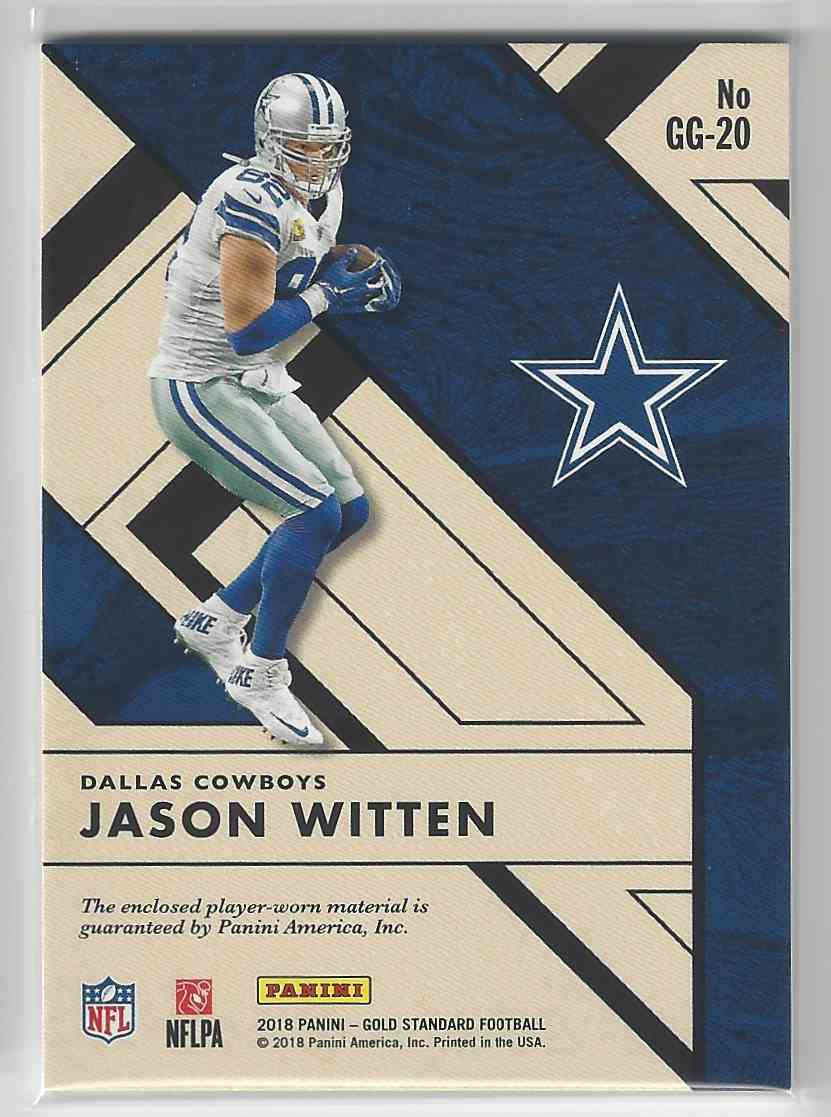 new style 7cac7 707f7 2018 Gold Standard Gridiron Gold Prime Patch Jason Witten 16 ...