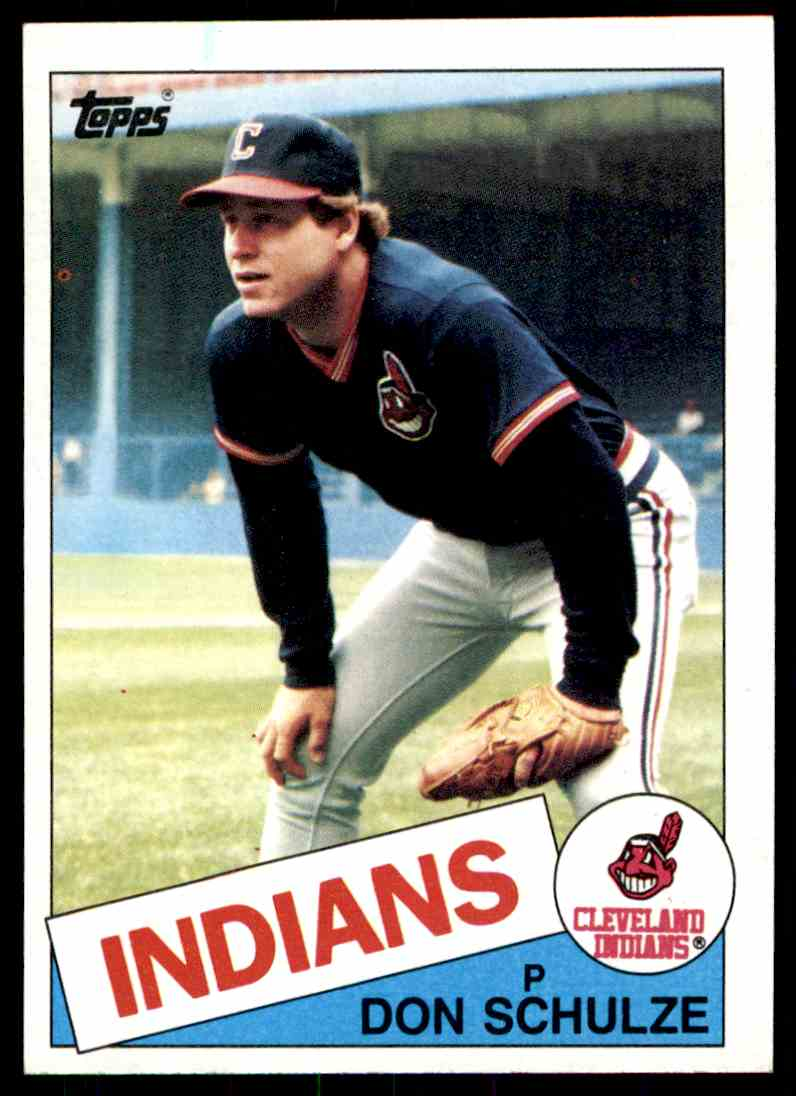 1985 Topps Don Schulze #93 card front image