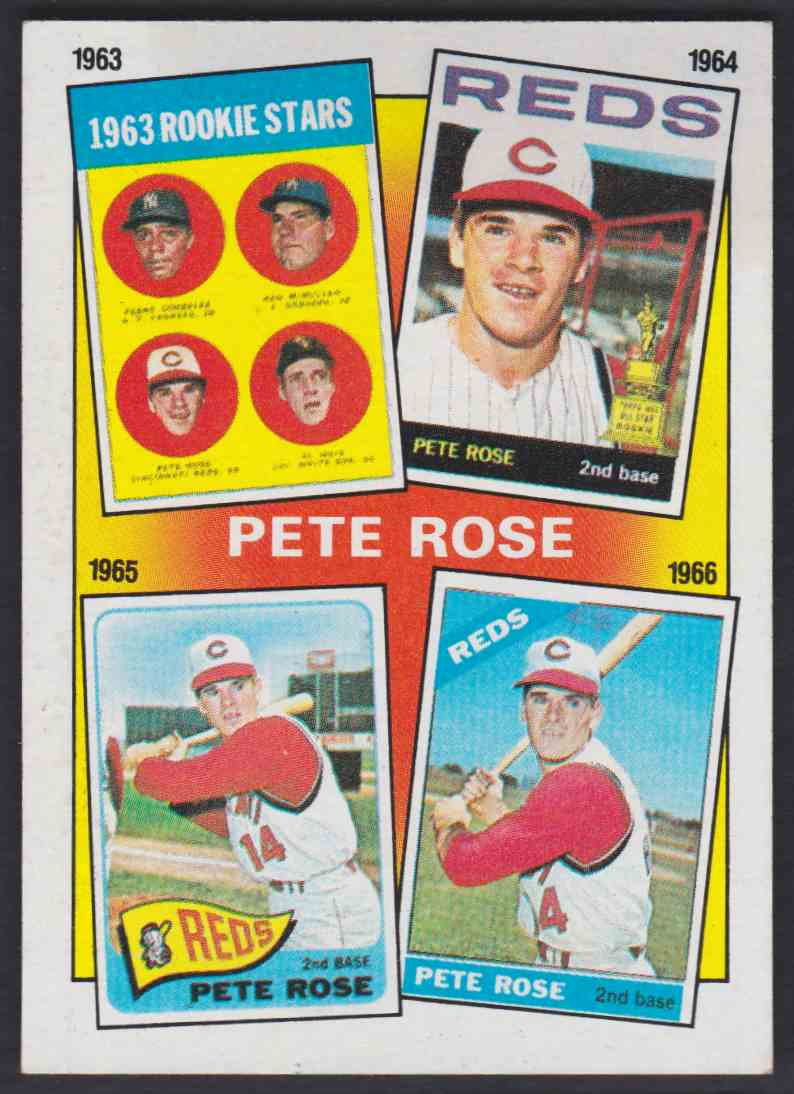 1986 Topps Pete Rose Years 2 On Kronozio