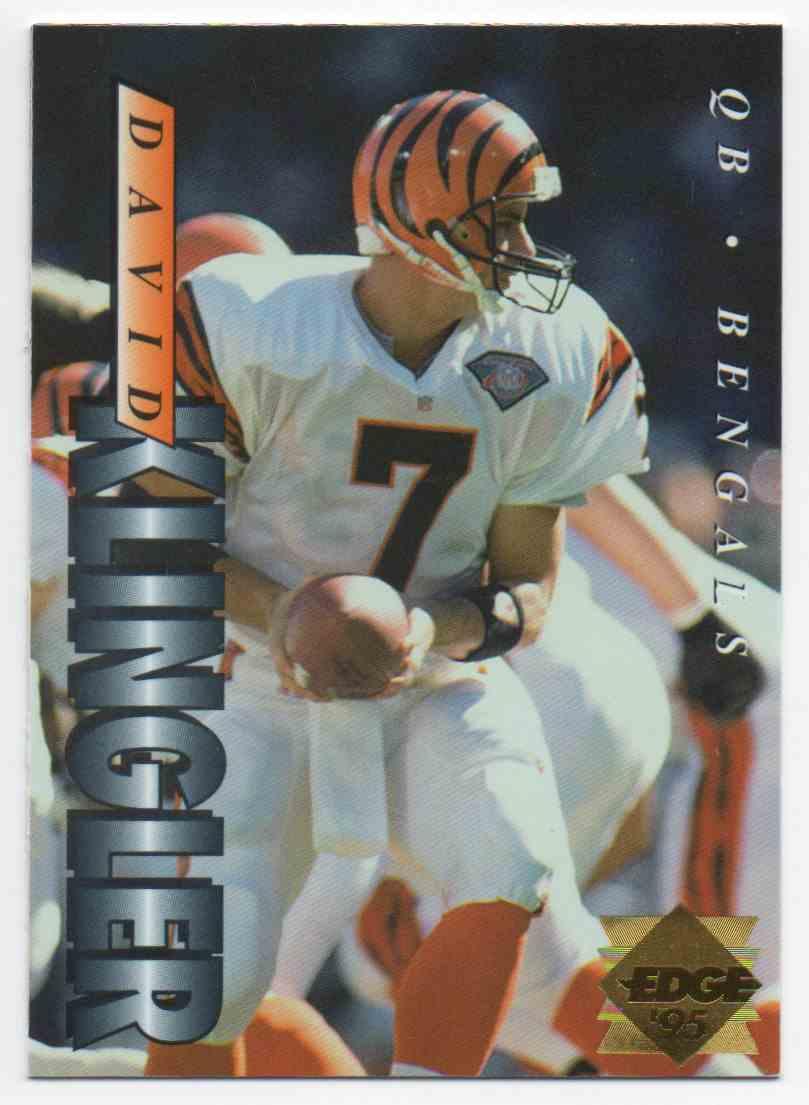 1995 Collectors Edge Gold Label David Klingler #39 card front image