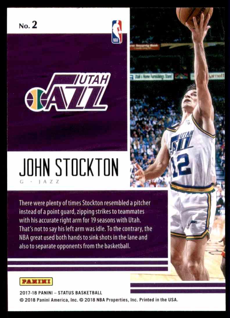 2017-18 Panini Status Status Quo John Stockton #2 card back image