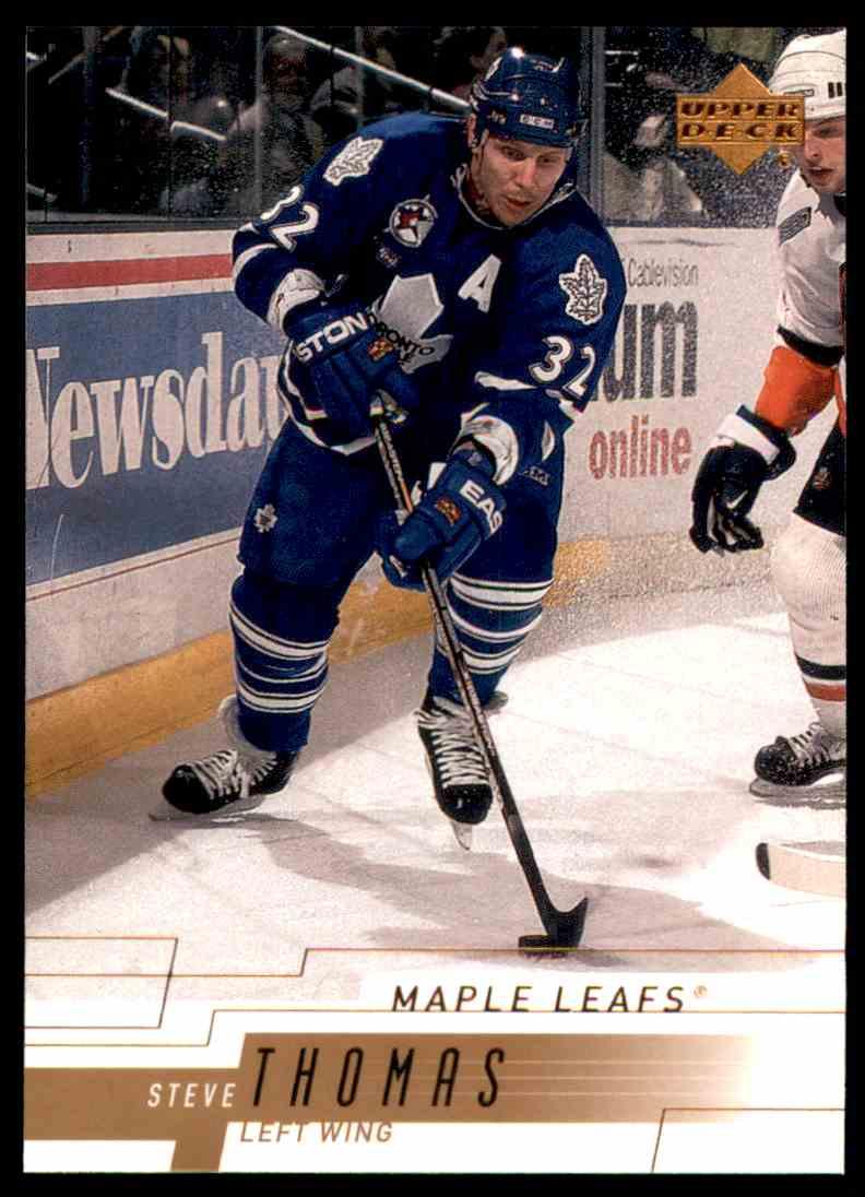2000-01 Upper Deck Steve Thomas #162 card front image