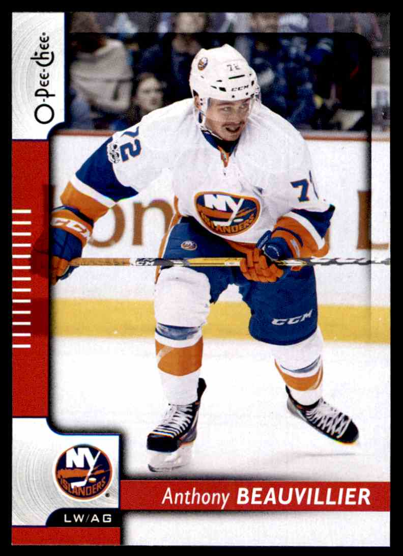 2017-18 O-Pee-Chee Red Anthony Beauvillier #49 card front image