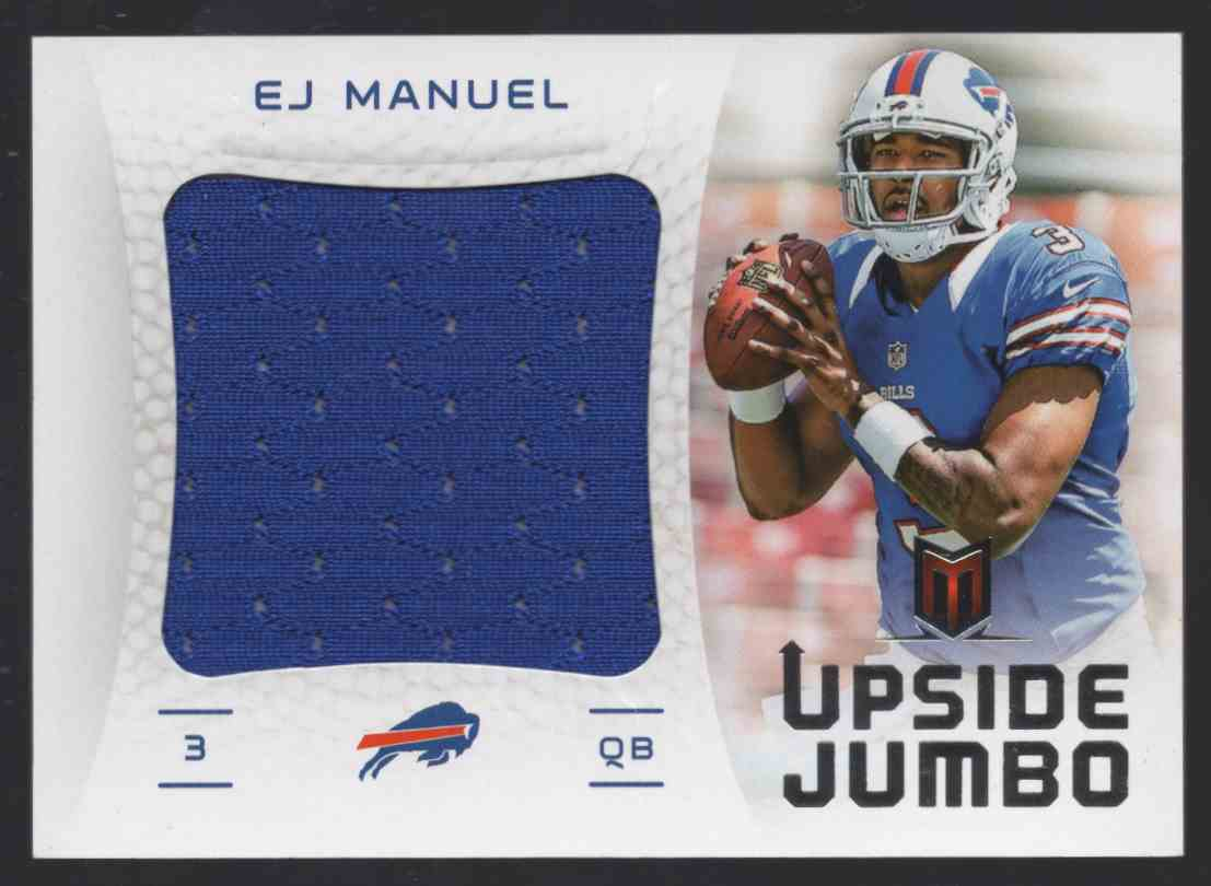 2013 Panini Momentum Upside Jumbo Jerseys E.J. Manuel #2 card front image