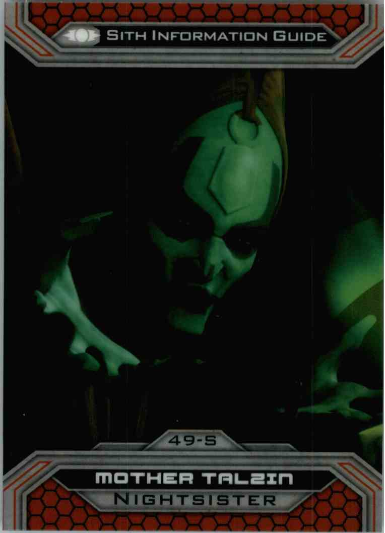 2015 Topps Chrome Star Wars Sith Information Guide Mother Talzin #49-S card front image