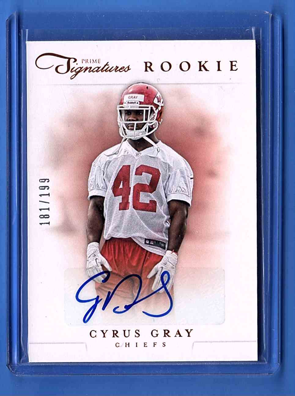 2012 Prime Signatures Cyrus Gray #183 card front image