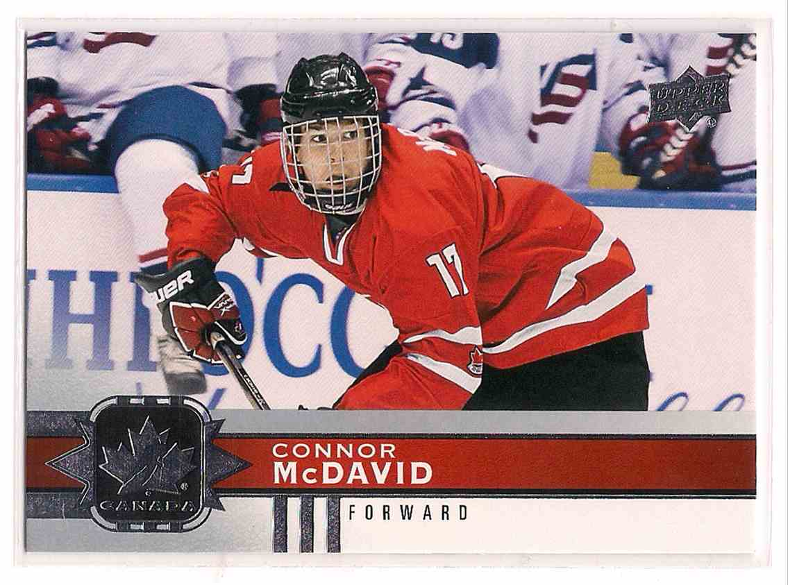 2017-18 Upper Deck Team Canada Connor McDavid #128 card front image