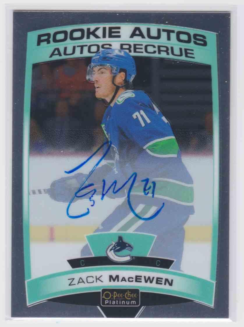 2019-20 Upper Deck Hockey O-Pee-Chee Platinum Zack MacEwen #R-ZM card front image