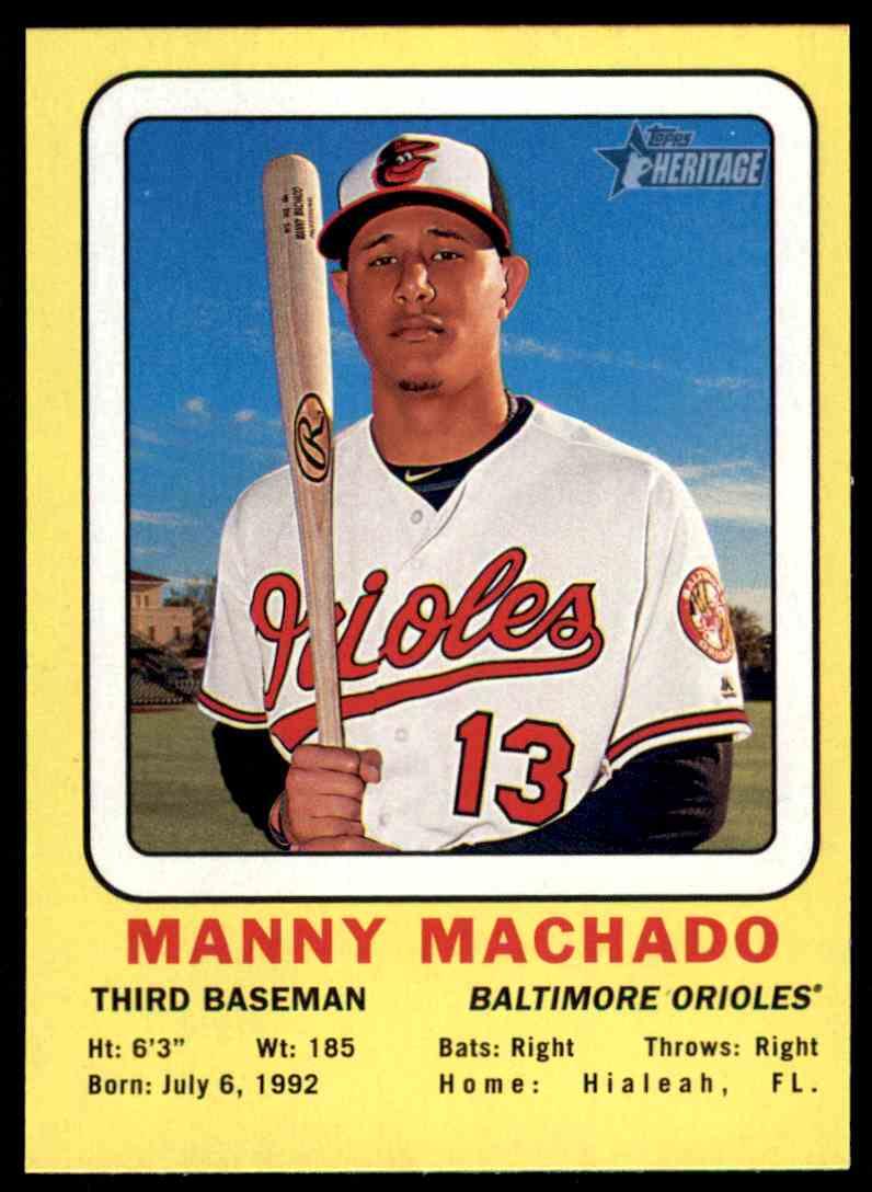 2018 Topps Heritage Target Collector Manny Machado Baltimore