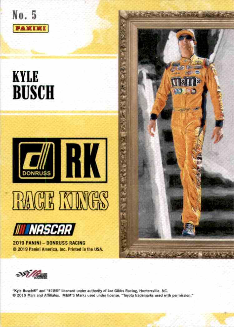 2019 Donruss Gold Kyle Busch Rk #5 card back image