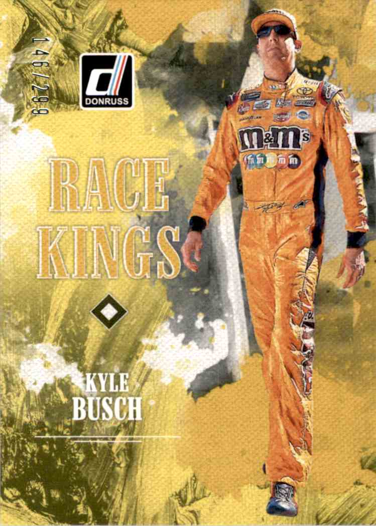 2019 Donruss Gold Kyle Busch Rk #5 card front image