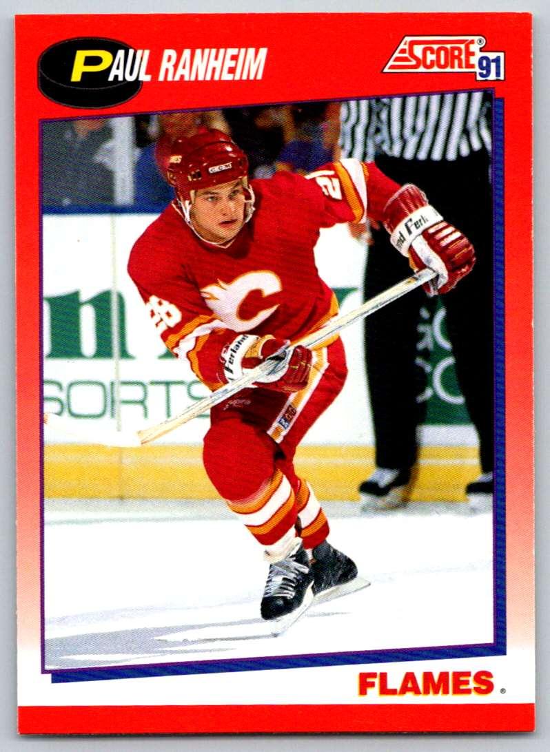 1991-92 Score Canadian Bilingual Paul Ranheim #21 card front image