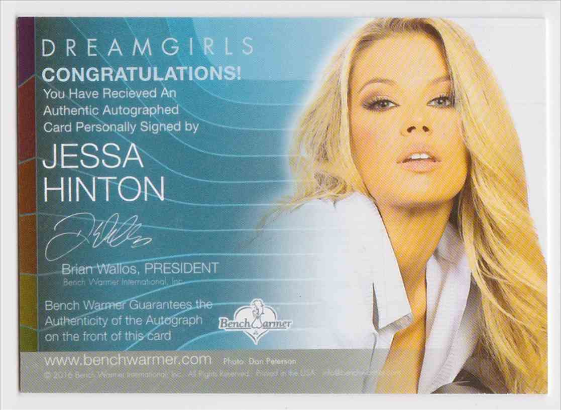 2017 Benchwarmer Dreamgirls Jessa Hinton card back image