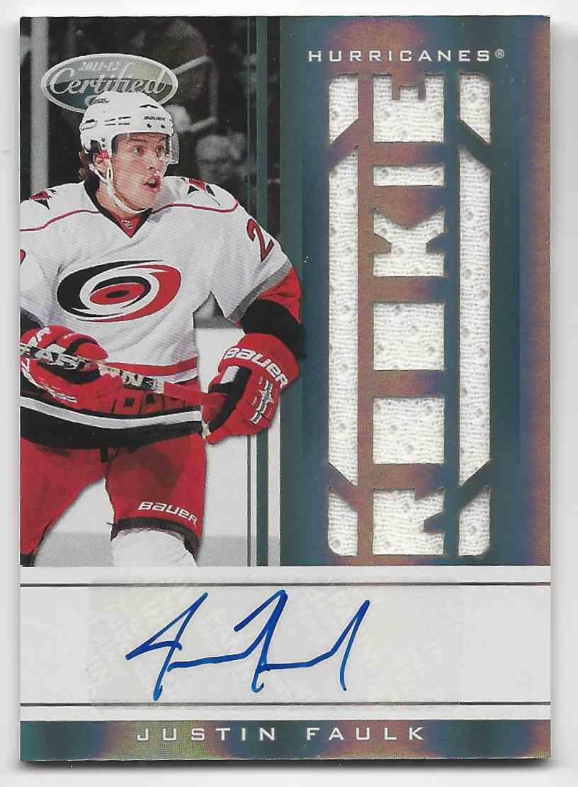 2011-12 Certified Justin Faulk #225 card front image