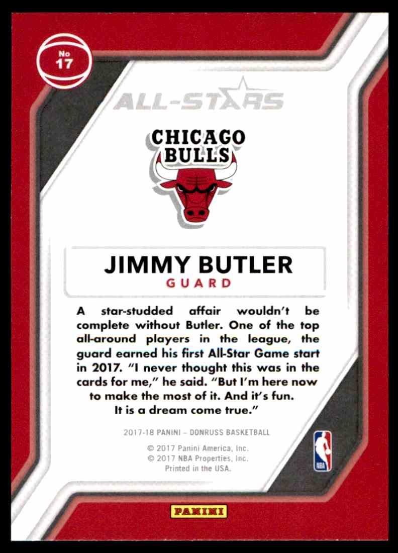 2017-18 Donruss All-Stars Jimmy Butler #17 on Kronozio