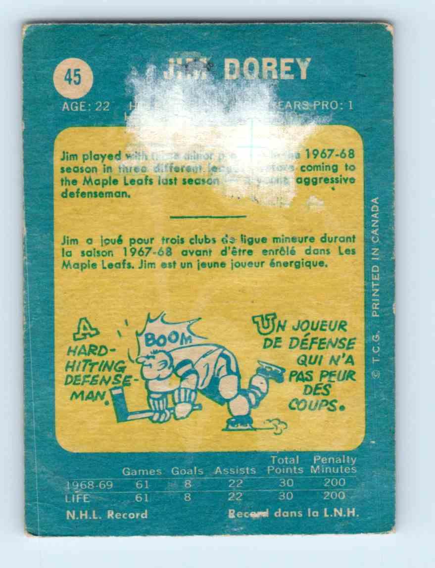 1969-70-Topps-Jim-Dorey-45 thumbnail 2