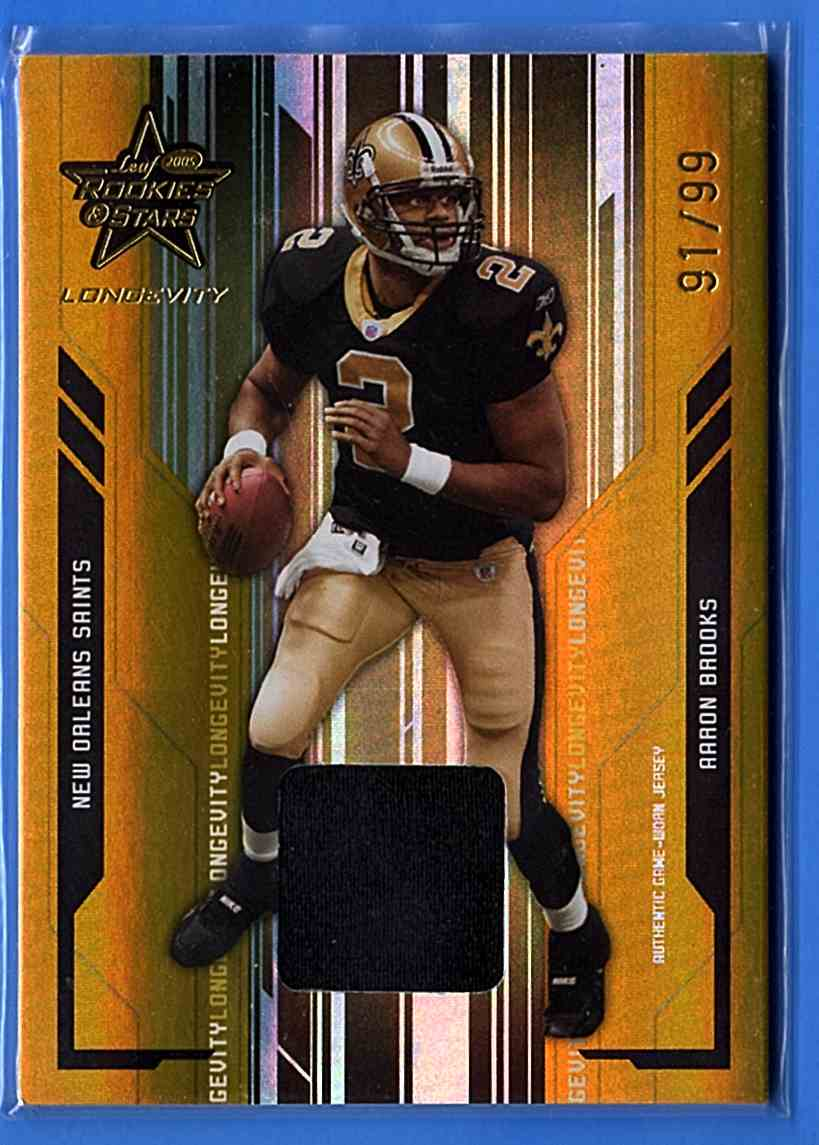2005 Leaf Rookies And Stars Longevity Materials Gold Leaf Rookies And Stars Longevity Materials Gold #58 card front image