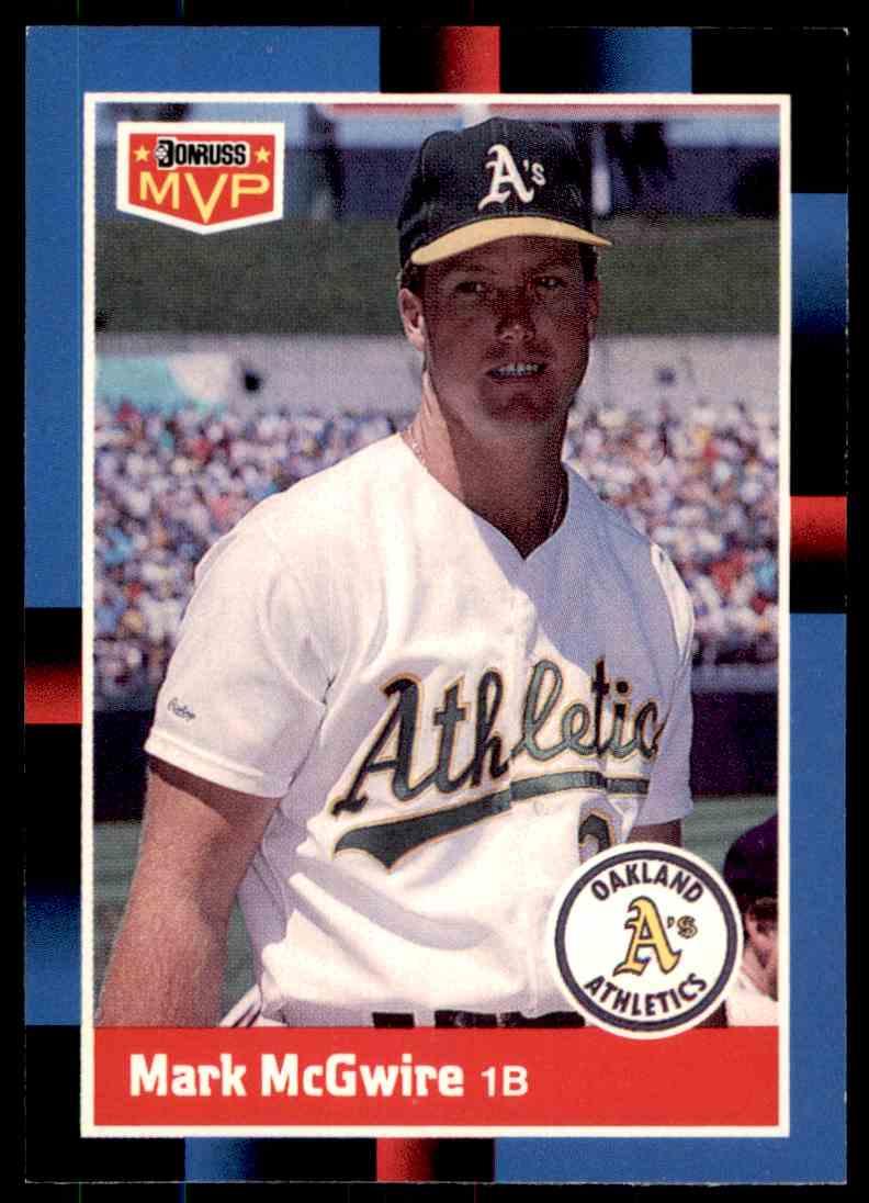 1988 Donruss Baseball Mark Mcgwire Bc 23 On Kronozio