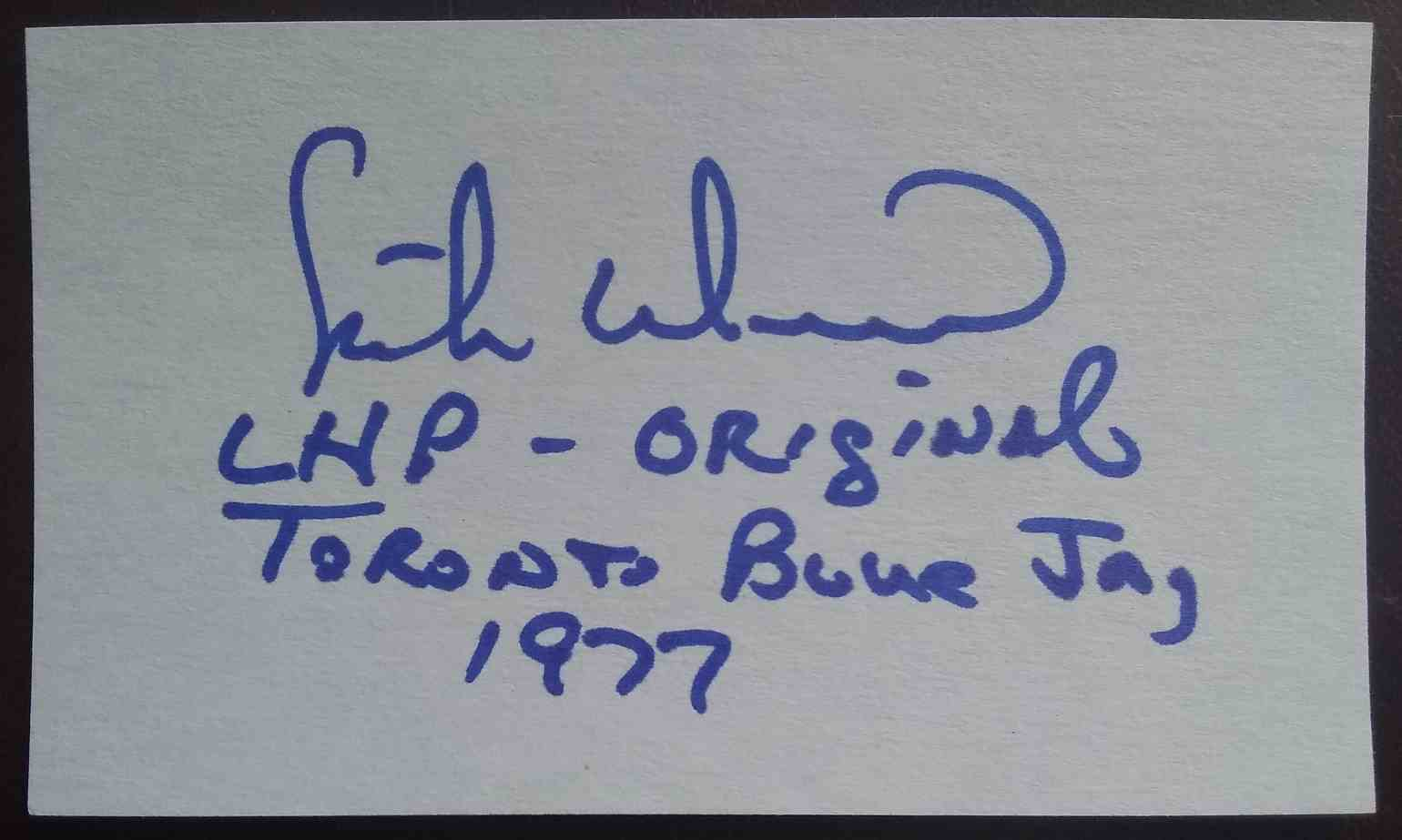 1977 3X5 Mike Willis card back image