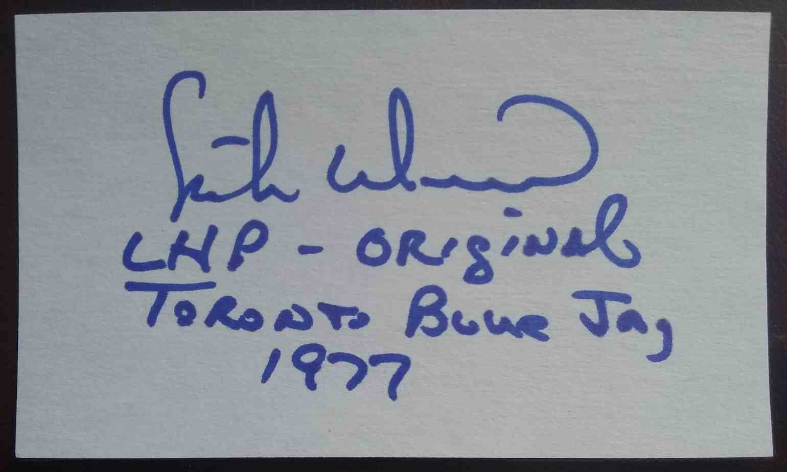 1977 3X5 Mike Willis card front image